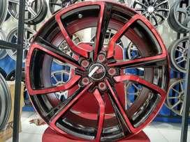 Velg Mobil Grandis, Rush, Ertiga, dll R18 HSR Wheel MISATO black red