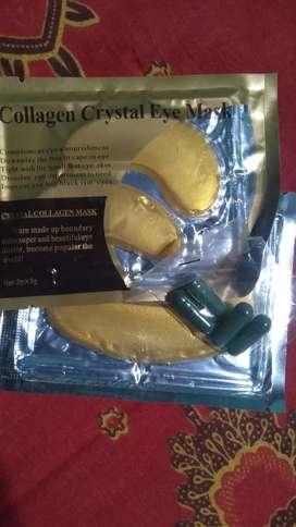masker mata dan bibir (free spirulina)