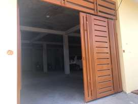 Hall for rent for warehouse/office purpose