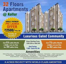 Luxurious gated community with world class amminities now at kollur