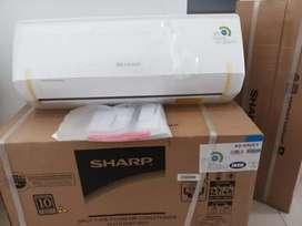 ac sharp 1/2pk 350w baru turbo cooling r32 x fan function 1/2 pk cool