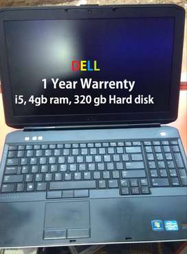 DELL i5 Laptop with 1 year(12 months) warranty