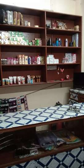 Beauty parlour and cosmetics shop for sale