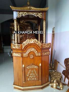 Ready Mimbar Masjid Material Kayu Jati Berkualitas @527
