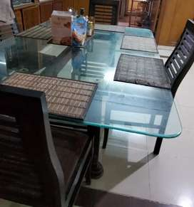 Dining Table, Dressing Table, Sofa set , Qaleen and Trunk/sandooq