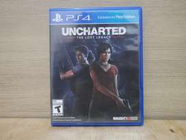 Blueray game playstation 4 ps4 Uncharted Lost legacy bd disc