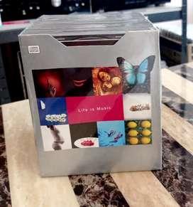 CD BOX SET LG LIFE IS MUSIC, ISI 10 CD KOMPILASI.  KONDISI SEGEL NOS