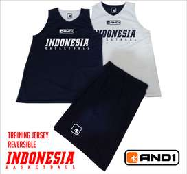 TRAINING JERSEY BASKETLATIHAN BOLAK BALIK INDONESIA BASKETBALL AND1 2