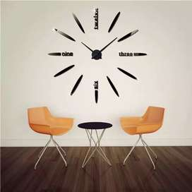Jam Dinding Besar kombinasi huruf