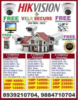 OFFER OF WHOLESALE   2MP HIKVISIONHD CCTV CAMERA SETUP FUL FREE NEW 15