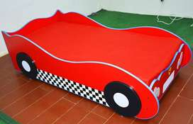 Brand New Single Car Bed for Boys, Children Beds Sale BY FURNISHO