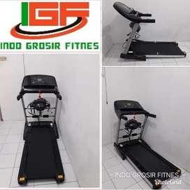 Alat fitness treadmill elektrik Sports i8  4 in 1 bc h09h