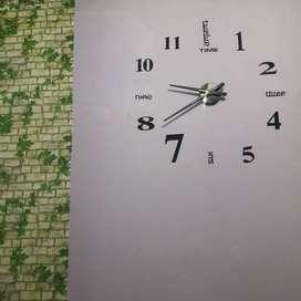 Jam DIY Untuk Ruang Tamu Raksasa Silent Mode 130cm Angka Huruf 3D