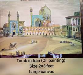 Tomb in Iran (oil painting)