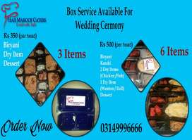Box Service Available for Wedding