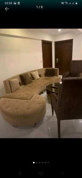 Round sofa two cofee chair carpet 40000 frige new 2 year use 30000