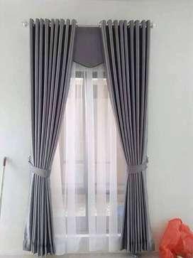244 pajangan komplit desain tirai gorden hordeng wallpaper murah trend