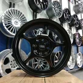 Velg Mobil Brio Ring 15 Racing HSR PCD 4x100 4x114,3 Free Ongkos Kirim