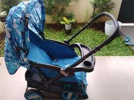 Stroller Hugo warna biru