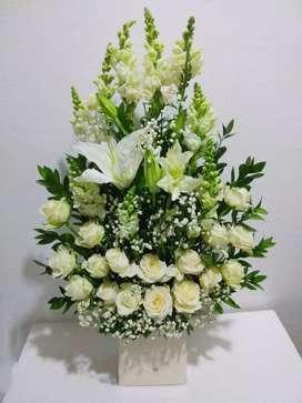 Karangan bunga meja/ vas