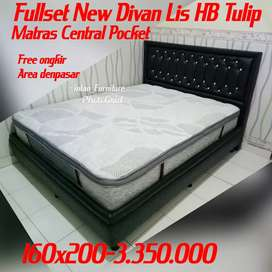 Fullset new dipan lis hb Tulip matras central pocket plustop