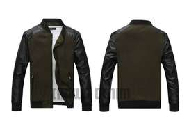 Jaket Canvas Baseball Comby Green Army Style - SK5