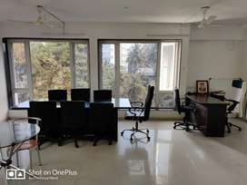 1100 sqft office on rent at karve road main chowk furnshed