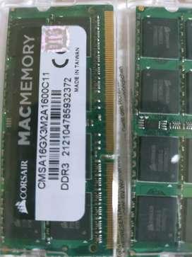 Macbook ram Corsair 16gb dan hdd 500gb + caddy