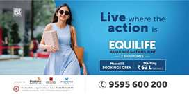 Spacious 2 BHK flats in Mahalunge Near Balewadi at 62lacs (all incl)