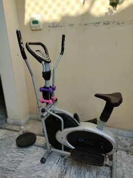 Elliptical cycle cycling machine exercise cycle cardio dumbbel twister