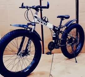 NEW FAT TYRE FOLDABLE CYCLE WITH 21 GEARS