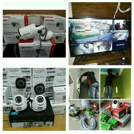 PAKET MURAH Kamera CCTV 4 Channel 2MP Full HD Bisa Online free jasa