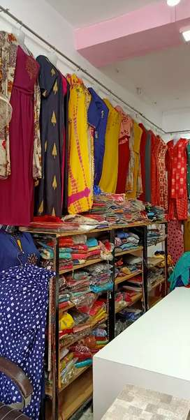 A ladies shop with trial room in sisamau market