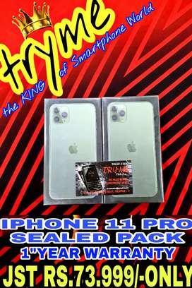 TRYME SEALED Pack IPHONE 11 Pro All Colours Available 1Year Warranty