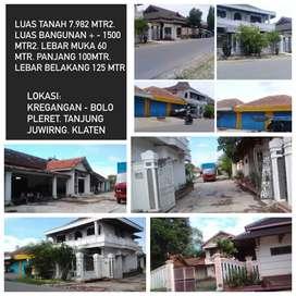 Gudang SHM 7982 m² Juwiring Klaten Jawa Tengah (Langsung ke Owner)