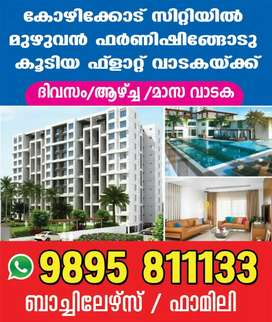 Dailly / Weekly / Monthly : Fully Furnished Flat For Rent At Kozhikode
