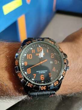 Timex Helix watch with resin strap for immediate sale