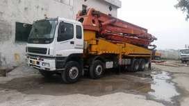 45metre truck mounted concrete pump available for rent