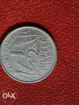 Coin 1/2 rupee coin very rare