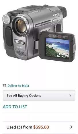 Sony digital video recorder made in Japan.  digital 8 DCR-TRV285E PAL