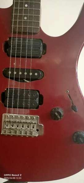 Yamaha electric guitar red colour