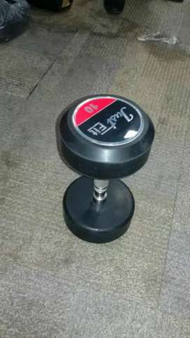Dumbells are available