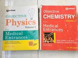 ARIHANT objective physics and chemistry + FREE COACHING MODULE MODULES
