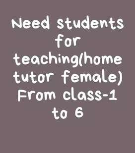 Home tutor(female)