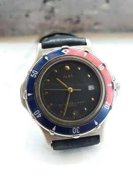 Vintage ALba Diver StyLe V322-X018 OriginaL Pepsi