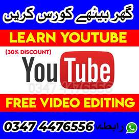 Learn Youtube & Video Editing Short Course , Online Education Discount
