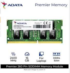 ADATA Premier 16GB DDR4 2400Mhz Laptop RAM(Brand New)