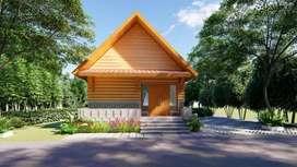 Rumah kayu GRATIS 3 pohon berbuah