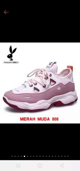 Sneakers Wanita Sepatu Wanita Import Sneakers Tali PANARYBODY