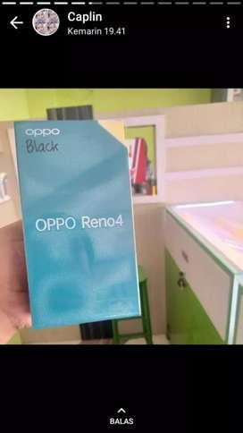Oppo reno 4 8/128 baru bergaransi resmi